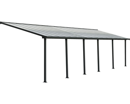 Toiture pour terrasse PALRAMOlympia 16mm 3x9,71 grise