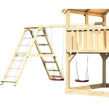 Extension de balançoire double AKUBI Lotti, Danny, Luis avec portique d'escalade, rampe avec filet-thumb-0