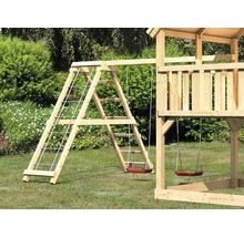 Extension de balançoire double AKUBI Lotti, Danny, Luis avec portique d'escalade, rampe avec filet-thumb-2
