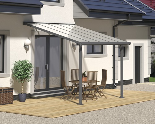 Toiture pour terrasse PALRAMOlympia 16mm 3x3 grise