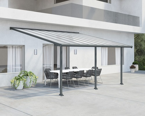 Toiture pour terrasse PALRAMOlympia 16mm 3x5,4 grise