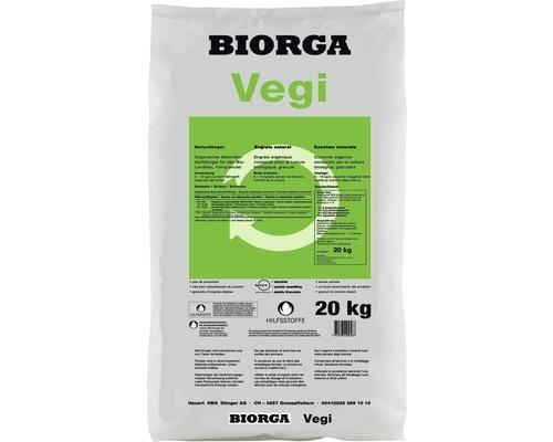 Engrais bio pour légumes, fines herbes et fruits Hauert BIORGA Vegi engrais organique 20 kg