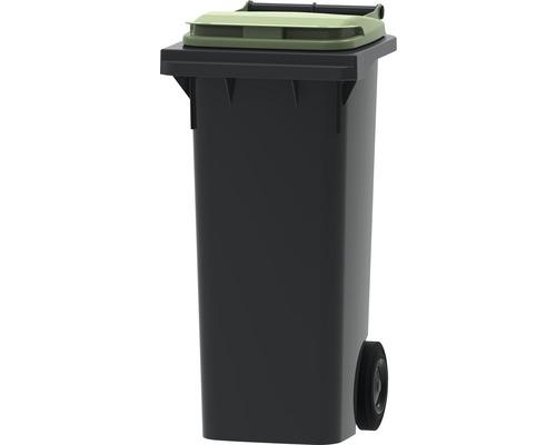 Collecteur de déchets et de recyclage à 2roues MGB 80l gris/vert