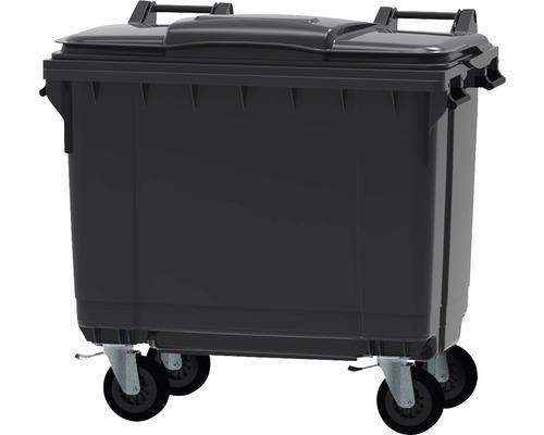 Collecteur de déchets et de recyclage à 4roues MGB 660l gris/gris
