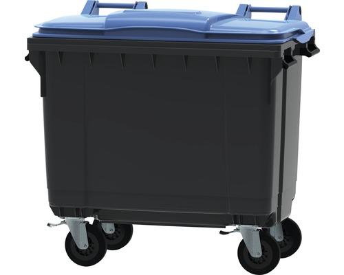 Collecteur de déchets et de recyclage à 4roues MGB 660l gris/bleu