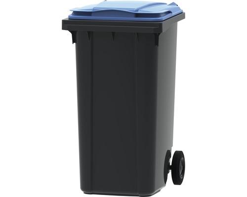 Collecteur de déchets et de recyclage à 2roues MGB 240l SL gris/bleu