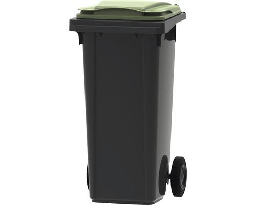 Collecteur de déchets et de recyclage à 2roues MGB 120l SL gris/vert
