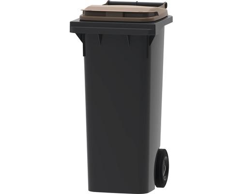 Collecteur de déchets et de recyclage à 2roues MGB 80l gris/marron