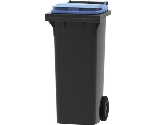 Collecteur de déchets et de recyclage à 2roues MGB 80l gris/bleu