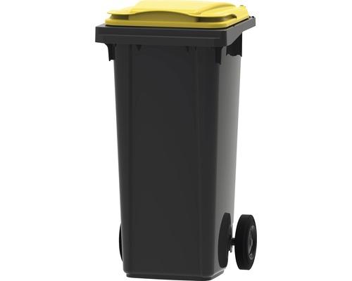 Collecteur de déchets et de recyclage à 2roues MGB 120l SL gris/jaune