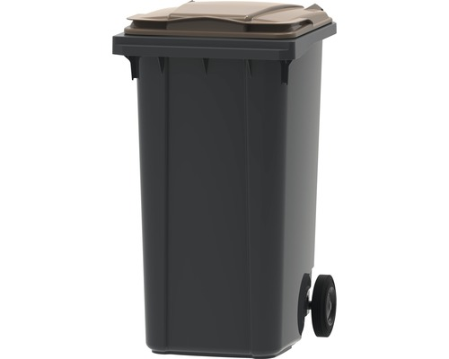 Collecteur de déchets et de recyclage à 2roues MGB 240l SL gris/marron