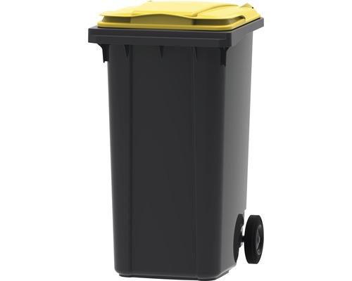 Collecteur de déchets et de recyclage à 2roues MGB 240l SL gris/jaune