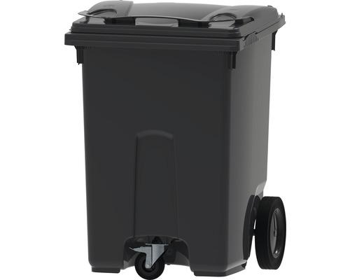 Collecteur de déchets et de recyclage à 3roues MGB 370l gris/gris