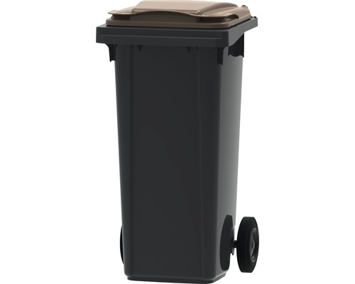 Collecteur de déchets et de recyclage à 2roues MGB 120l SL gris/marron