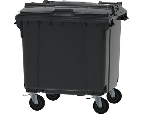 Collecteur de déchets et de recyclage à 4roues MGB 1.100l Split Lid gris/gris/gris