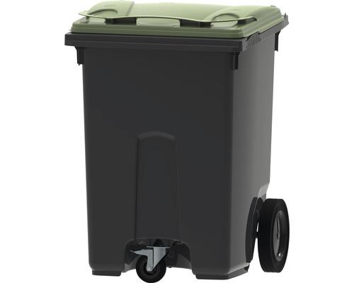 Collecteur de déchets et de recyclage à 3roues MGB 370l gris/vert