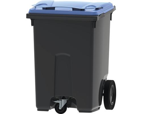 Collecteur de déchets et de recyclage à 3roues MGB 370l gris/bleu