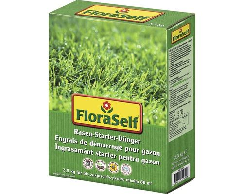 Engrais de démarrage pour pelouse FloraSelf 2,5kg 80m²