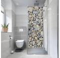 Duschrückwand mySPOTTI fresh Kieselsteine 100x255 cm
