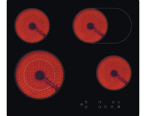 Plaque de cuisson vitrocéramique PKM KF4-2KB, largeur 59 cm