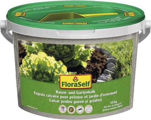 Calcaire pour pelouses et jardins FloraSelf 10 kg 100 m²