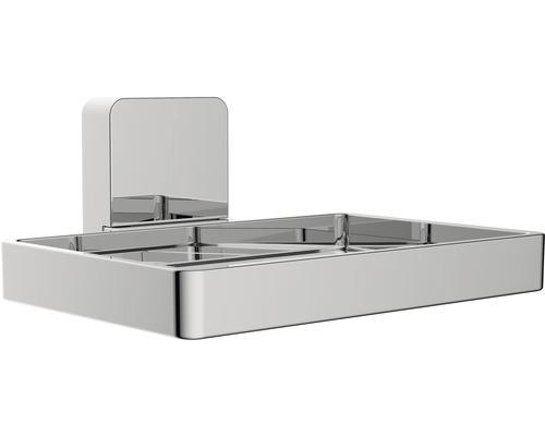 Porte-savon REIKA Ovaro magnétique chromé sans plaque de montage