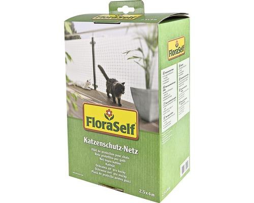 Filet de protection pour chats FloraSelf 2,5x4m noir