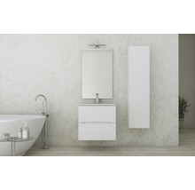 Armoire sous lavabo Life 60cm frêne blanc-thumb-1