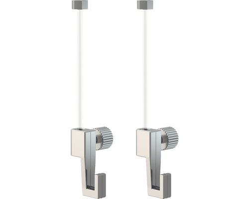 Kit 2 câbles de suspension Perlon 150 cm avec crochets