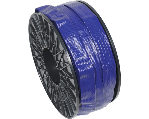 "Tuyau industriel/Tuyau plat 1 1/4"" (31,7mm) bleu, marchandise au mètre"