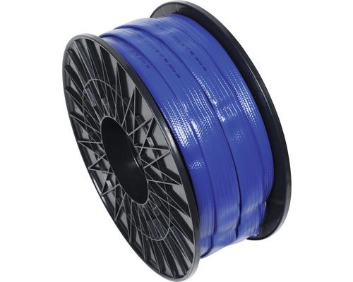 """Tuyau d''arrosage industriel/Tuyau plat 1"""" (25,4mm) bleu, marchandise au mètre"""