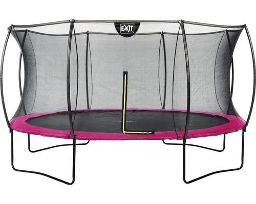 Trampoline EXIT Silhouette avec filet de sécurité Ø 427 cm rose