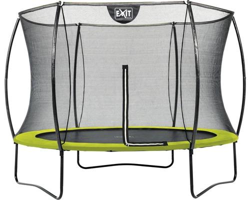 Trampoline EXIT Silhouette avec filet de sécurité Ø 244 cm lime