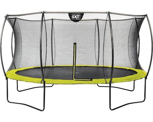 Trampoline EXIT Silhouette avec filet de sécurité Ø 427 cm lime