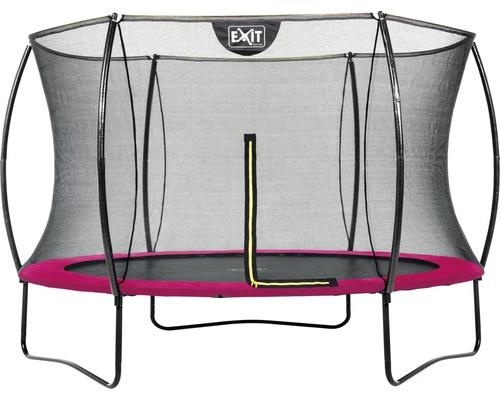 Trampoline EXIT Silhouette 305 + réseau rose
