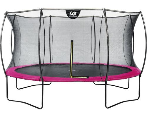 Trampoline EXIT Silhouette avec filet de sécurité Ø 366 cm rose