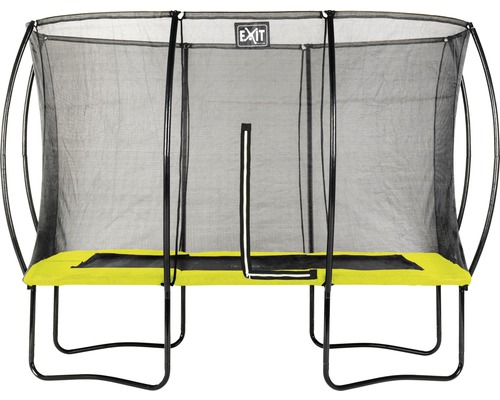 Trampoline EXIT Silhouette avec filet de sécurité 214x305 cm lime