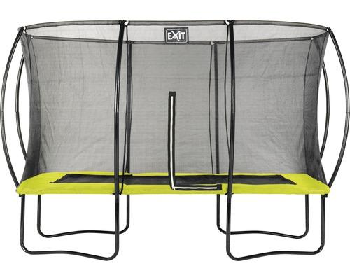 Trampoline EXIT Silhouette avec filet de sécurité 244x366 cm lime