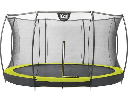 Trampoline EXIT Silhouette Ground avec filet de sécurité Ø 427 cm lime