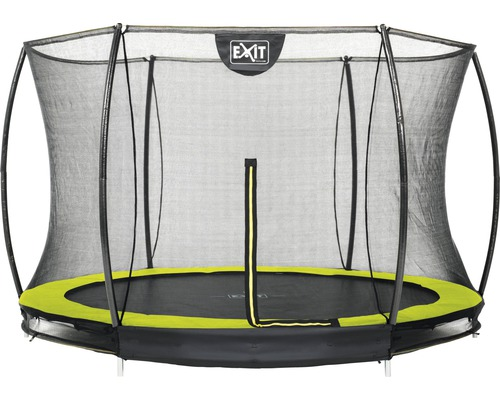 Trampoline EXIT Silhouette Ground avec filet de sécurité Ø 305 cm lime