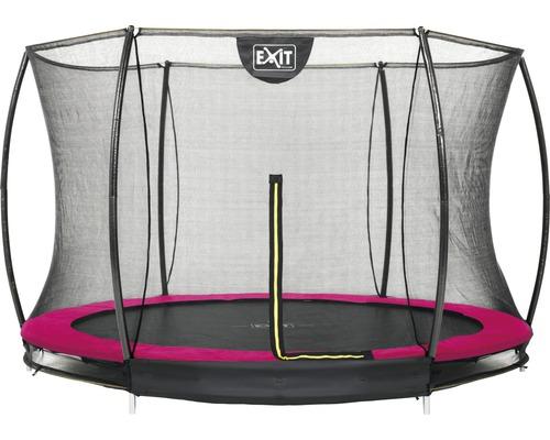 Trampoline EXIT Silhouette Ground avec filet de sécurité Ø 305 cm rose