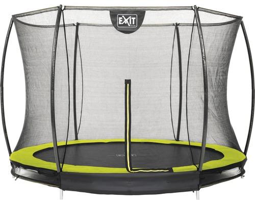 Trampoline EXIT Silhouette Ground avec filet de sécurité Ø 244 cm lime