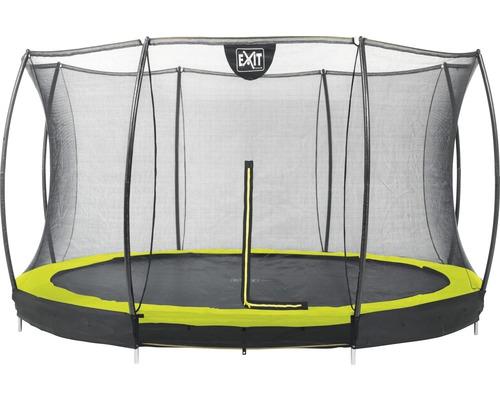 Trampoline EXIT Silhouette Ground avec filet de sécurité Ø 366 cm lime
