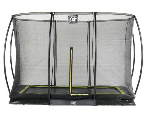 Trampoline EXIT Silhouette Ground avec filet de sécurité 214x305 cm noir
