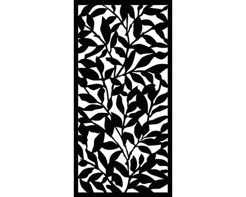 Sichtschutz- und Wanddekoelement Tangle Kunststoff 90 x 180 cm, schwarz