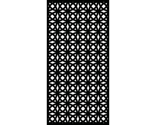 Élément d''occultation et de décoration murale Orbit plastique 90x180cm, noir