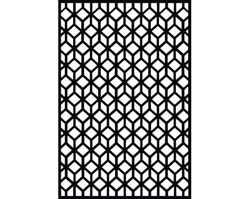 Sichtschutz- und Wanddekoelement Cubism Kunststoff 180 x 120 cm, schwarz
