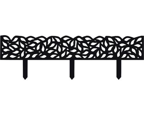 Bordure pour plates-bandes en plastique 89x15 cm anthracite