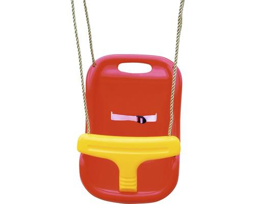 Balançoire pour bébé AKUBI en plastique rouge