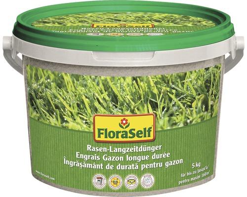 Engrais pour pelouse longue durée FloraSelf 5kg 160m²